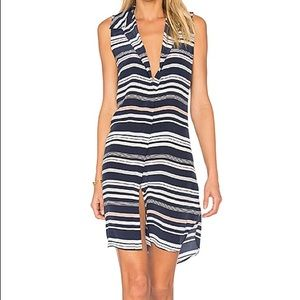 Equipment Janna striped shirt dress